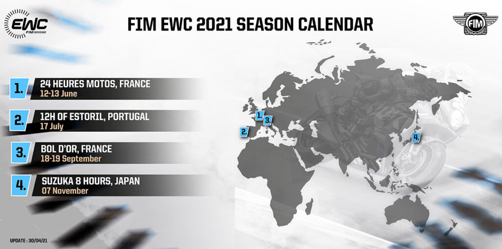 Updated Calendar 30 Apr